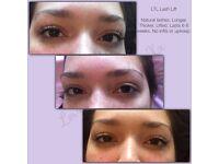 High Definition Brows, LTL Lash Lift (like LVL) & CND Shellac . Eyelash Extensions