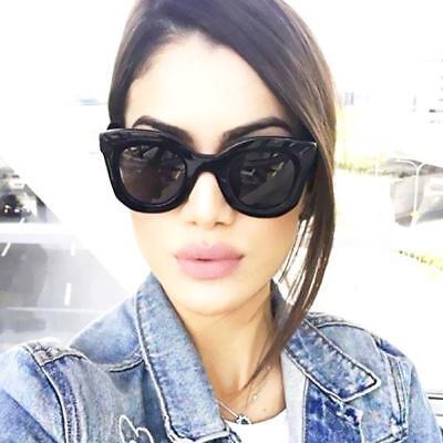 Kim Kardashian Sunglasses Oversized Top Flat Black Women Celine Fashion Cat (Kardashian Cat Eye Sunglasses)