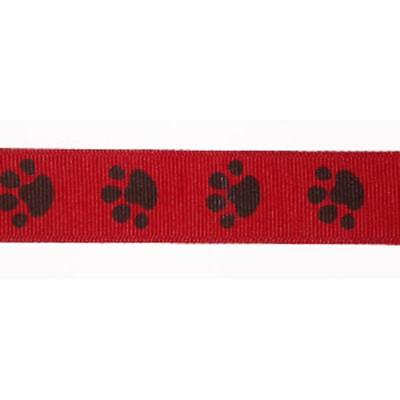 Ribbon Various Sizes & Colours (Paw Print Ribbon)