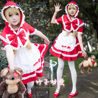 Cosplay Custome Anny Little Red Riding Hood Cute Maid Suit Halloween Dress](Cute Little Red Riding Hood Costumes)