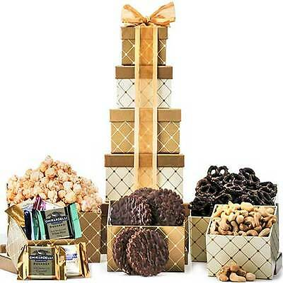 Simply Classic Tower Gold  Gift Baskets Gift Basket Holiday Gift Baskets