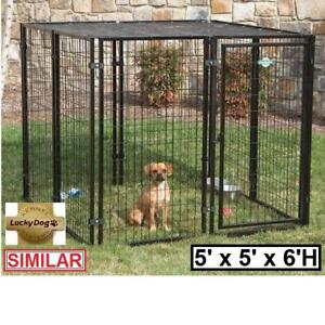 NEW LUCKY DOG EUROPEAN KENNEL CL 65155 136441382 STYLE MODULAR 5' x 5' x 6' H KENNELS HOLDING PEN PENS CAGE CAGES DOG...