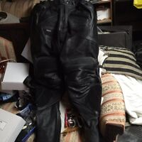 Leather motorcycle pants  perforated leather