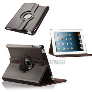 BROWN 360 ROTATING PU LEATHER CASE COVER WITH STAND FOR IPAD AIR Regina Regina Area image 5