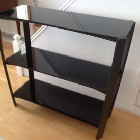 Expensive glass side / hall table very heavy good quality