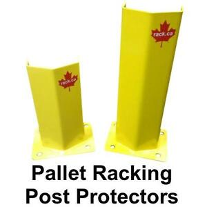 Pallet racking post protectors add some safety and protection to your warehouse rack.