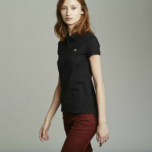 Womens LACOSTE black short sleeve classic fit pique polo Windsor Region Ontario image 5