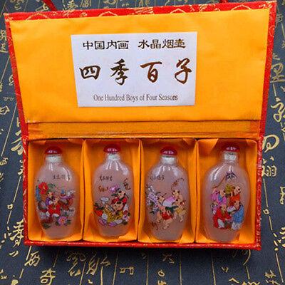 4pcs Chinese characteristics inside paintings snuff bottle gift