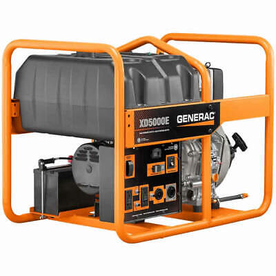 Generac Xd5000e- 5000 Watt Electric Start Portable Diesel Generator Carb