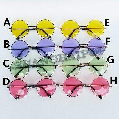 Hippy Round Sunglasses John Lennon Sunnies Metal Color Lens Retro Retro 60's