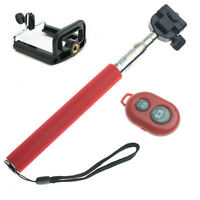RED Selfie Stick Bluetooth Remote Extandable for Cell Phone