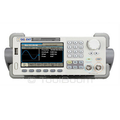 Siglent Sdg5122 Arbitrary Waveform Function Generator 2 Channels 120mhz 500mss