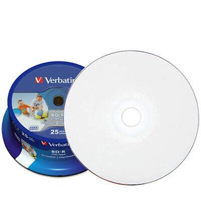 25x Verbatim Blu-ray Rohlinge BD-R 25 GB full printable bedruckbar 6x / 43811