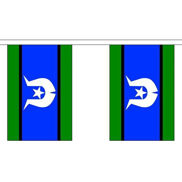 Torres Strait Islands Flag Bunting - 3m 6m 9m Metre Length 10 20 30 Flags