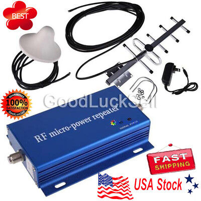 HOT! CDMA850MHz Cell Phone Signal Repeater Booster Amplifier+Yagi Antenna Kit US