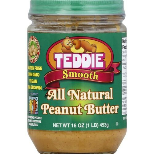 Teddie All Natural Smooth Peanut Butter 16oz