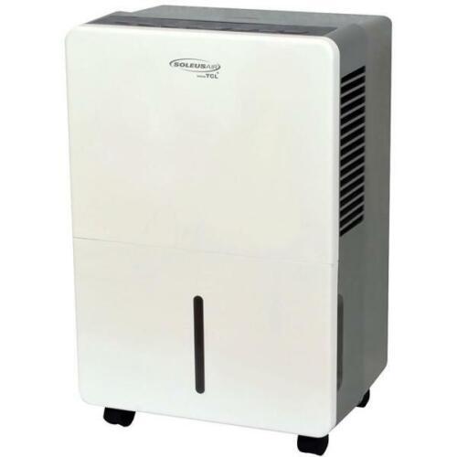 Soleus Air 30-Pint Portable Dehumidifier with Drain, White, HMT-D30-A