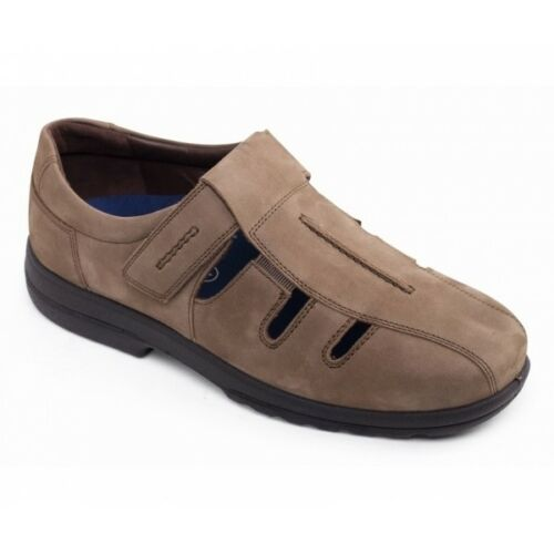Padders MENDIP Mens Genuine Leather Wide Slip On Smart Casual Shoes Tan G Fit