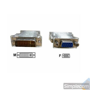 DVI I To VGA Male to Female Socket Adapter Converter