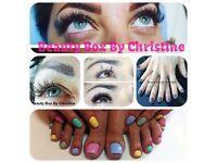 Eyelash extensions,CND gel nails,eyebrow & eyelash tint