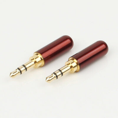 2pcs high quality Copper Gold Plated 3.5mm Male Stereo Mini Jack Plug (Mini Jack Plug)