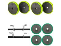 Mens health 40kg dumbell set with EZ bar (brand new and boxed))