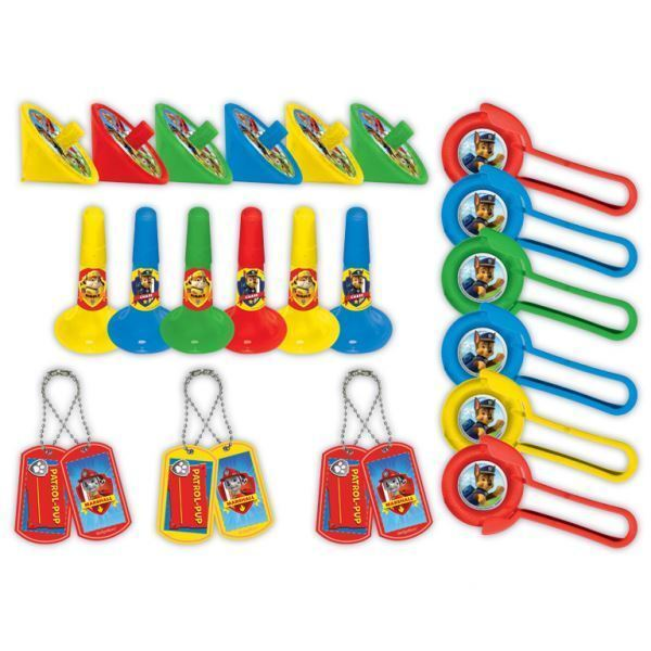 24 Piece Kids Official Paw Patrol Party Bag Filler Favour Packs Birthday Gifts