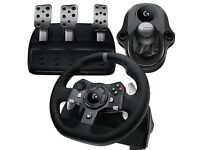 Logitech G920 steering wheel with pedals and shifter, good working order