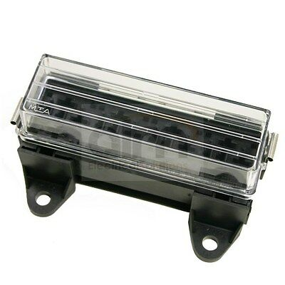 4 Way Automotive Relay Holder Box With Splashproof Lid - Suits 4/5 Pin Relays