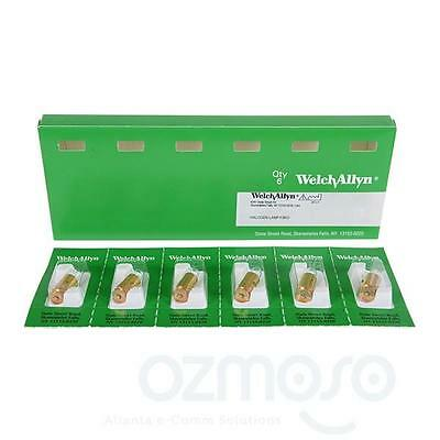 Lot 6 New Genuine Welch Allyn 06100 Exam Light Replacement Xenon 61 Lampsbulbs