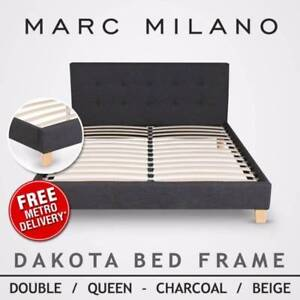 BRAND NEW - Milano Designer Fabric Bed Frames - FREE DELIVERY