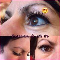 EXTENSION DE CHEVEUX & extension de cils