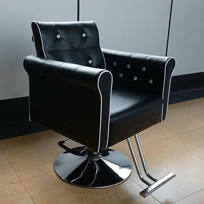 Black Salon Barber Hydraulic Chair Tattoo Styling Threading Beauty Hairdresser