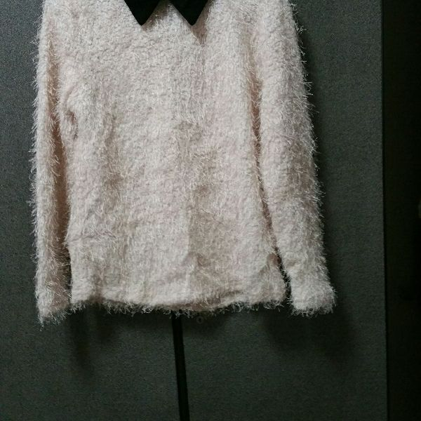 furry Winter Top With Uniform Collar