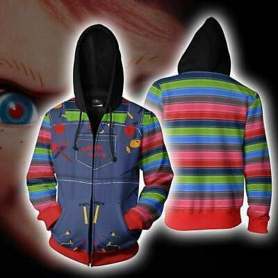 Chucky Child's Play  Jacket Hoodie 3D Animation Clothes Cosplay - Chucky Cosplay