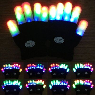 Child Kids LED Finger Flashing Gloves Light Up Halloween Xmas Dance Rave Party  (Kids Halloween Dance Party)