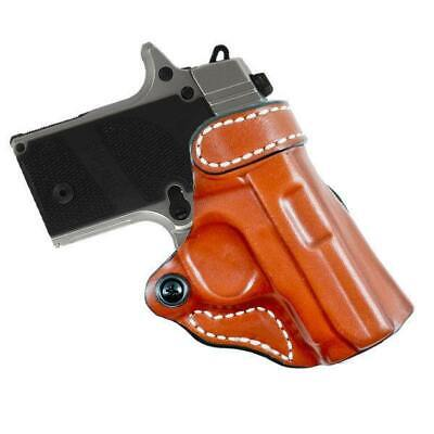 """Western Leather Cross Draw Revolver Holster ONLY NO BELT 4.5/""""-9.5/"""" Barrel"""