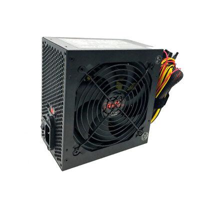 600 WATT 600W POWER SUPPLY for Intel AMD Desktop Computer i3/i5/i7 Large Fan