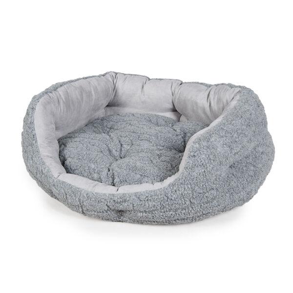 Danish Design Bobble Deluxe Slumber Pet Dog Cat Bed Pewter