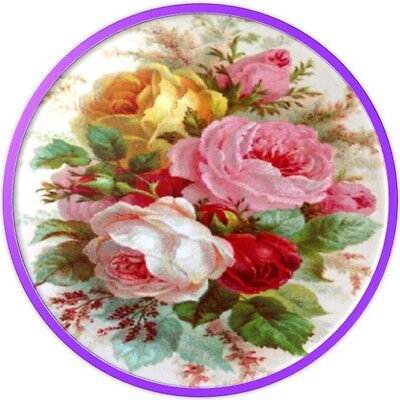 30 Custom Vintage Roses Art Personalized Address Labels