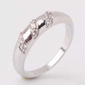 Ladies 18K White Gold Filled Wedding Ring Band 5, 6, 7 -New!