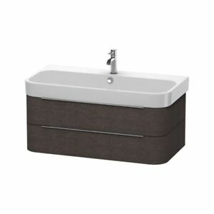 Duravit H26366 Happy D.2 Wall Mounted Vanity Unit Brushed Dark O