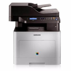 Samsung CLX-6260FWXAA Color Laser Multifunction Printer (No Box) (The scannerparking line glass is cracked)