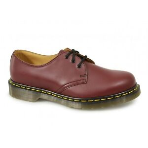 Dr-Martens-1461z-Unisex-Classic-Airwair-Z-Welt-3-Eyelet-Uniform-Shoes-Cherry-Red