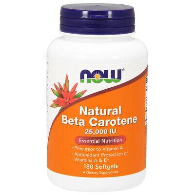 25000 Iu Vitamin (Vitamin A, Beta-Carotene, Natural, 25000iu 180 Softgels - NOW Foods)