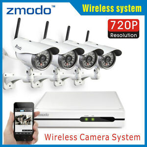 Wireless 4 Channel NVR 720P (HD) Surveillance Camera kit