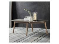 1 x Bergen Oval Coffee Table by Gallery Direct