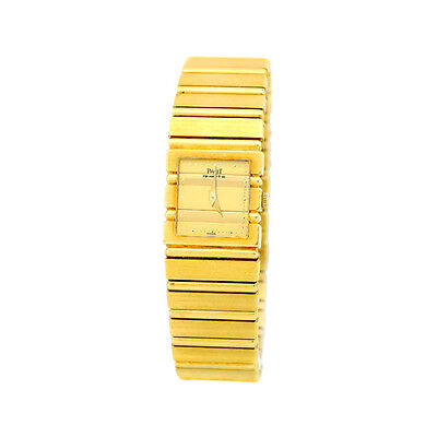 PIAGET 18K Yellow Gold Polo Square Classic Quartz Excellent Condition Warranty