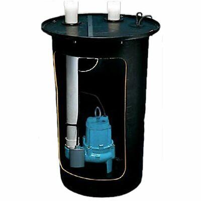 Little Giant 9s-smpxrt-k - 410 Hp Cast Iron Sewage Pump System 2