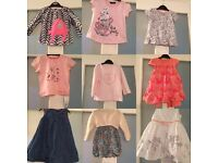 Selection of baby girls clothes.